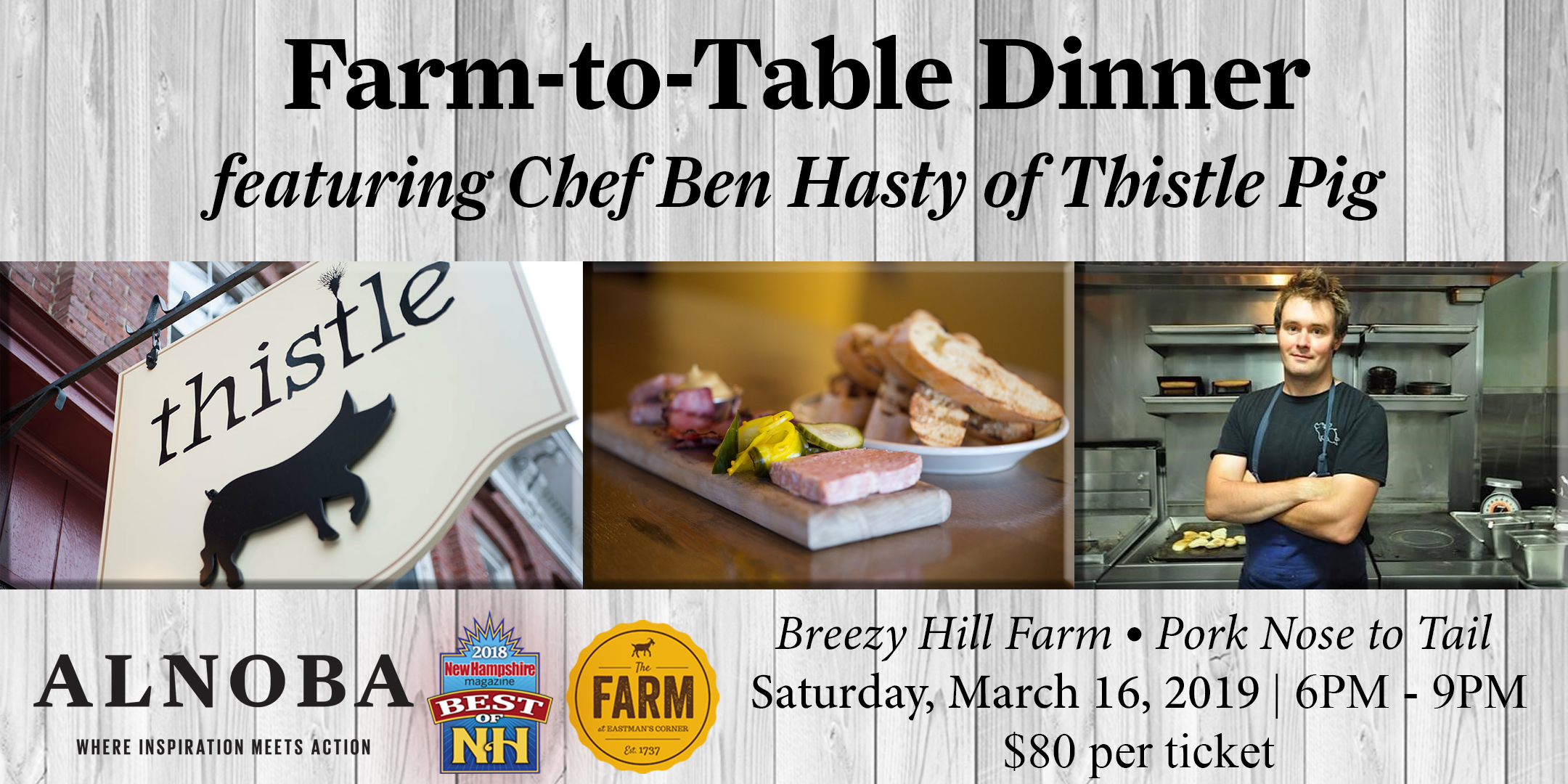 Farm-to-Table Dinner ft. Chef Ben Hasty of Thistle Pig