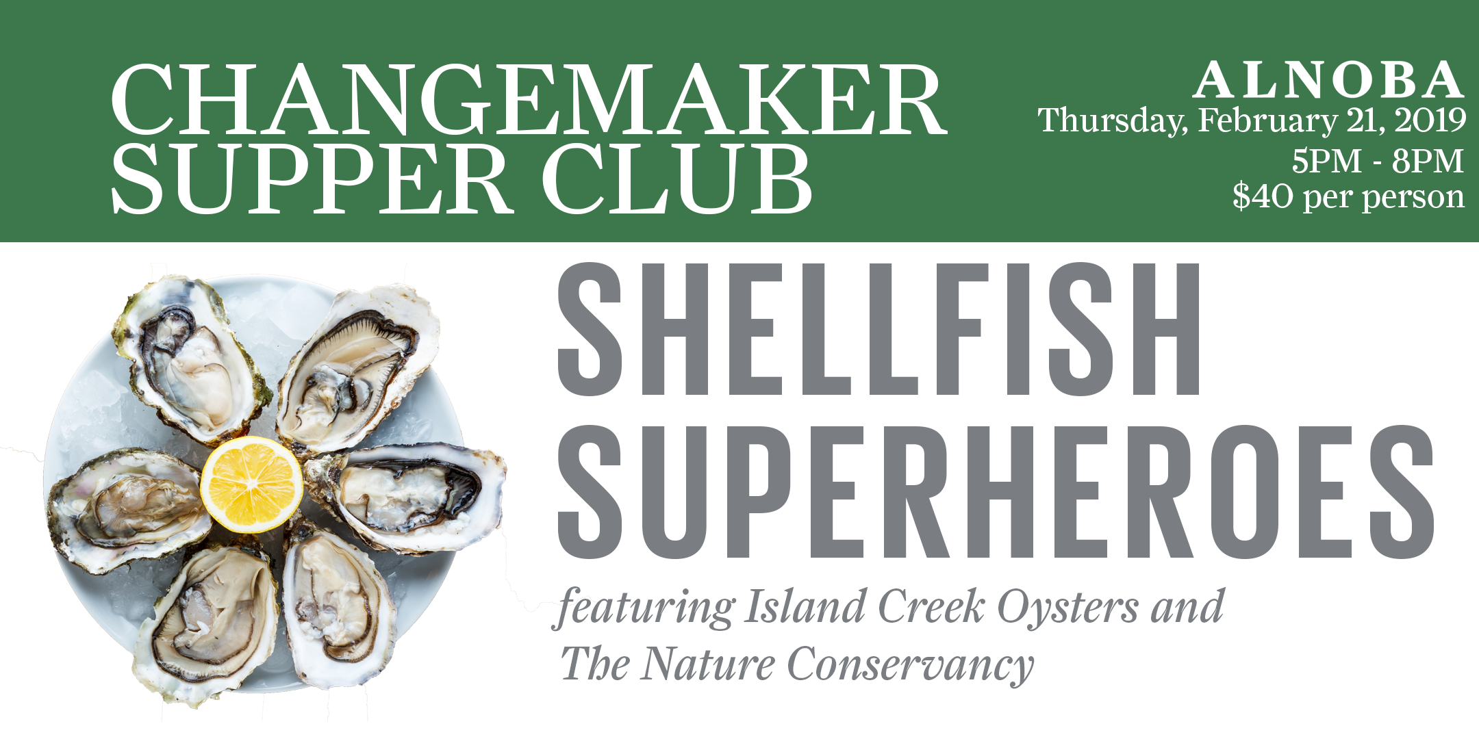 ChangeMaker Supper Club: Shellfish Superheroes
